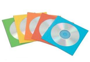CD papīra aploksnes, krāsainas (50gab./iep.)