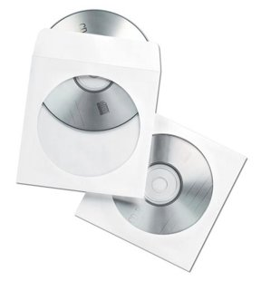 CD papīra aploksnes, baltas (50gab./iep.)